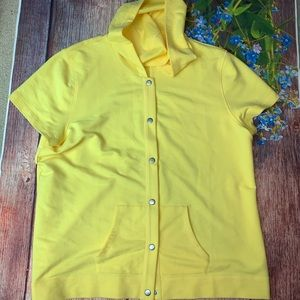 ORVIS Bright Yellow T-shirt hooded Coverup XL